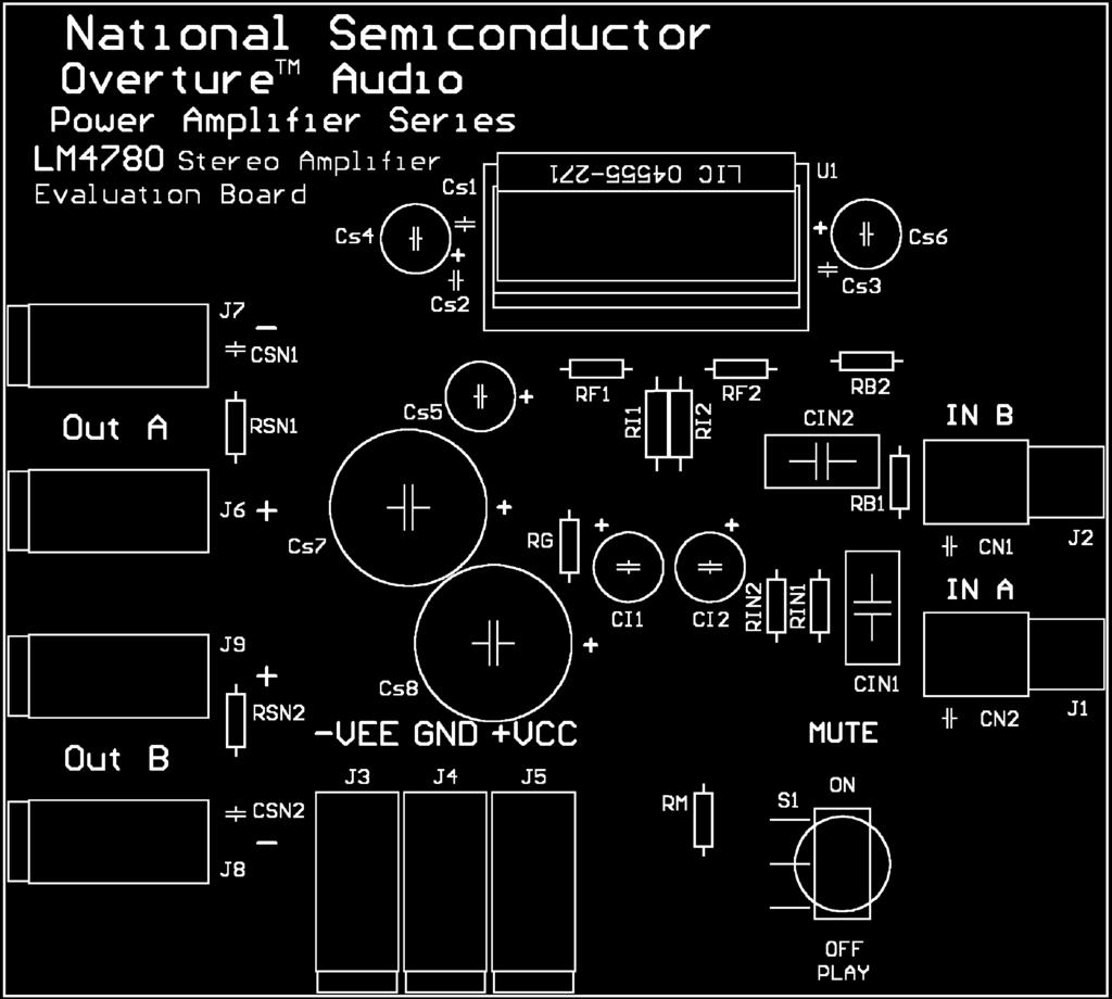 Stereo 60w Mono 120w Audio Power Amplifier With Mute Pdf Circuit Lm3876 Schematic Continued Lm4780