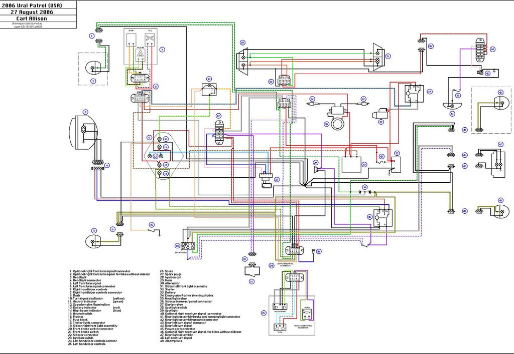 Урал) Electrical Schematics - PDF on ural engine diagram, ural ignition diagram, ural parts,