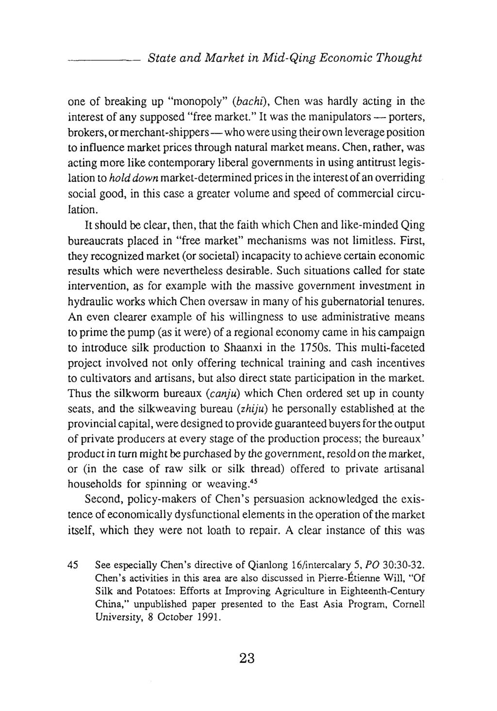 State and Market in Mid-Qing Economie Thought  The Case of