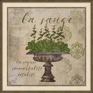 DECOR LA MAISON BY SOMERSET HOUSE Country Frenc Collection 2221 GARDEN SHOP THYME 29.5 X 11.