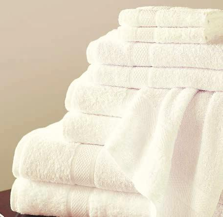 treat guests to a luxury experience our soft, absorbent towels and robes turn any bath into a spa-like retreat B hamomile Parchment hambray Peony Green Driftwood Eggshell Blue Mink Fig.