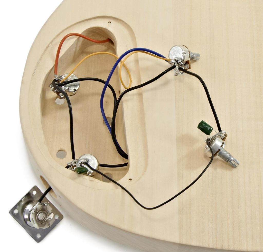 Brooklyn Double Neck Diy Guitar Kit Pdf The Trike Shop Wiring Diagram Step 2 Take Two Of Pots 4 And Bend Third Arm Back