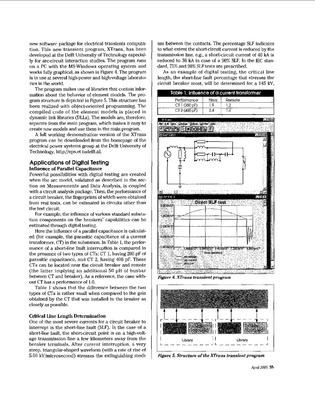 High4oltage Circuit Breakers Pdf Arc New Softwarc Package Lor Electrical Transients Computation This Transient Program Xtrans Has