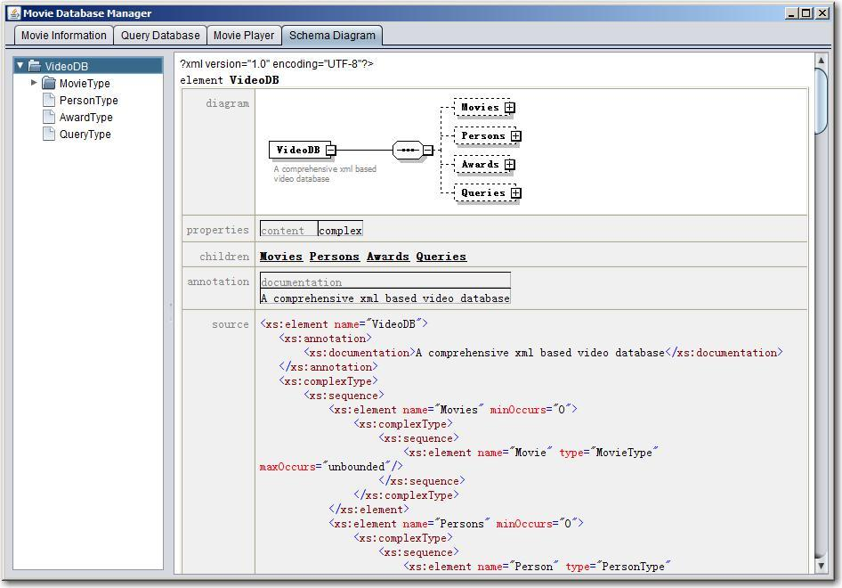 An XML-based system for management and query of video databases with