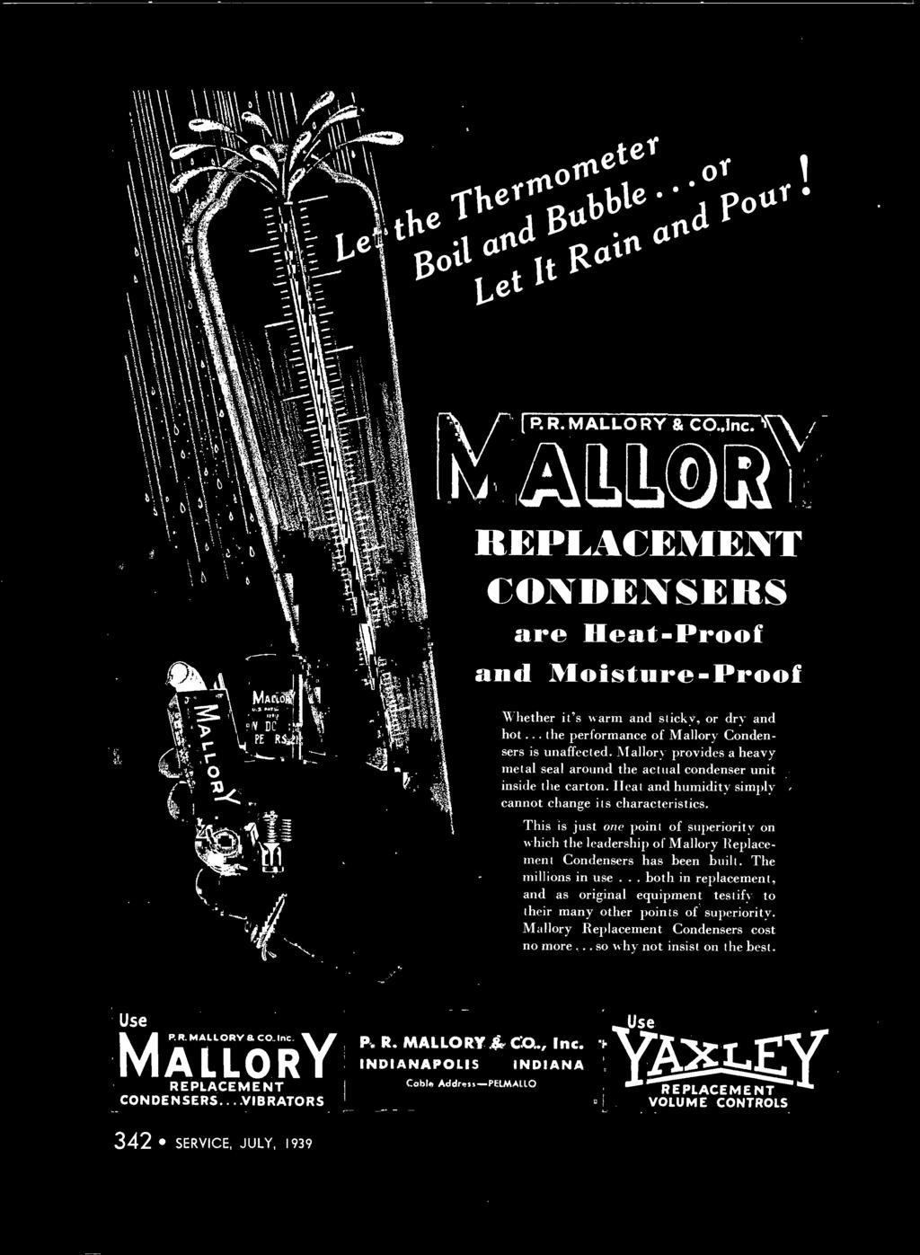 A Monthly Digest Of Radio And Allied Maintenance Television Pdf Mallory Dual Point Ignition Wiring Diagram Circuit This Is Just One Superiority On Which The Leadership Replacement Condensers Has