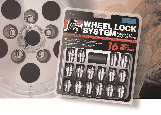 12mm X 1.75 Thread Size Gorilla Automotive 78661F Ford Wheel Locks with Washers Open End