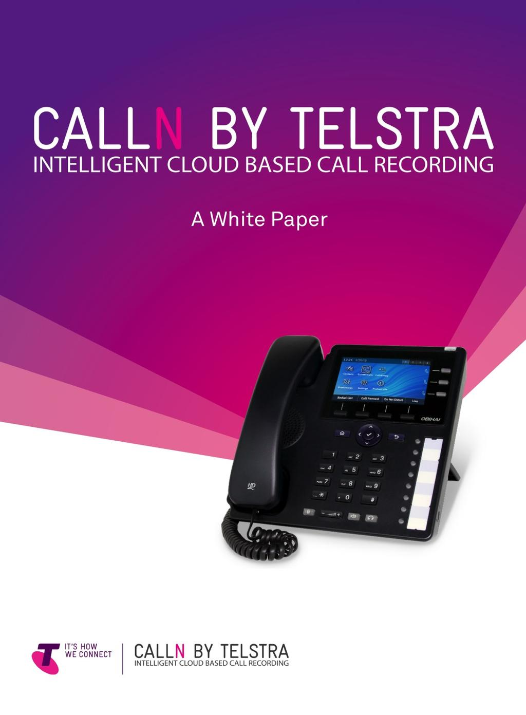CallN by Telstra : Intelligent Call Recording - PDF