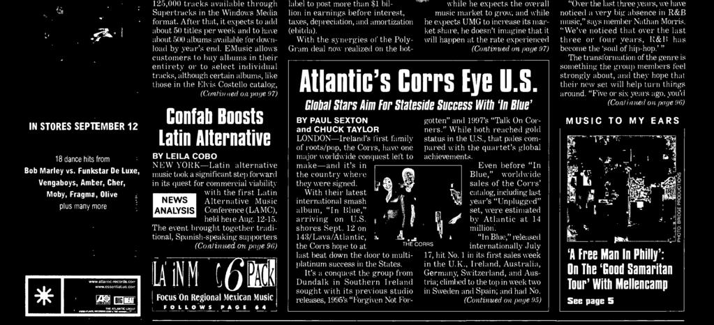 promo code 7379f 110f2 at the rate experienced (Continued on page 97) Atlantic s Corrs Eye U.S.