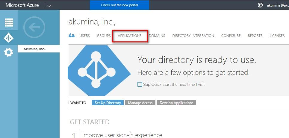 Configuring the Azure AD Graph API Connection  For
