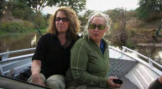 Worldwide Support & Outreach Donna Deitch (left) and Amy Ziff en route to  meet