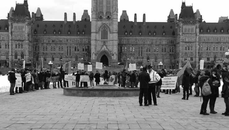 Protesters demanded a halt to the Armenian occupation policy, and called Canada to assess the issue and put pressure on Armenia. Protesters also picketed in front of the Armenian Embassy in Ottawa.