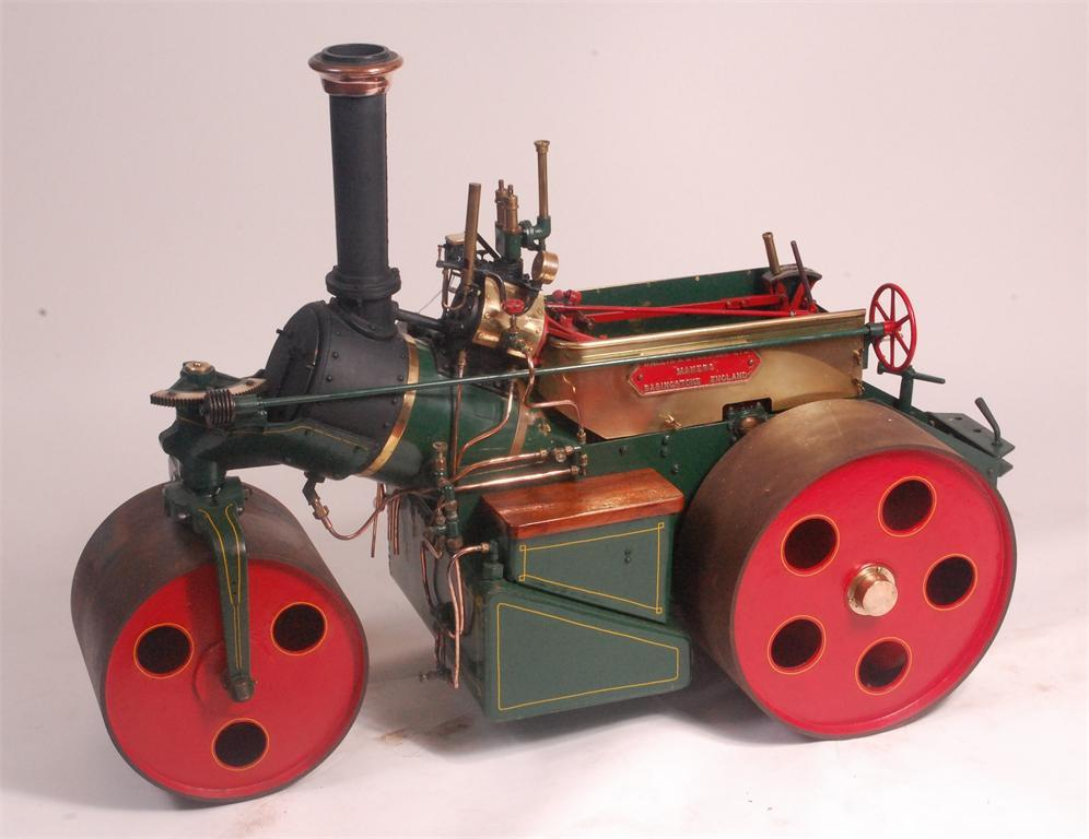 Au Special New Made In Germany New Varieties Are Introduced One After Another Wilesco D406 Black Brass Traction Engine