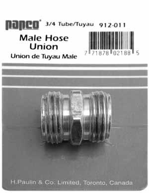 """FIT-PUSHTUBE-CONNECT-B9-6-4 Connector Straight 3//8/"""" Tube to 1//4/"""" NPT Male"""