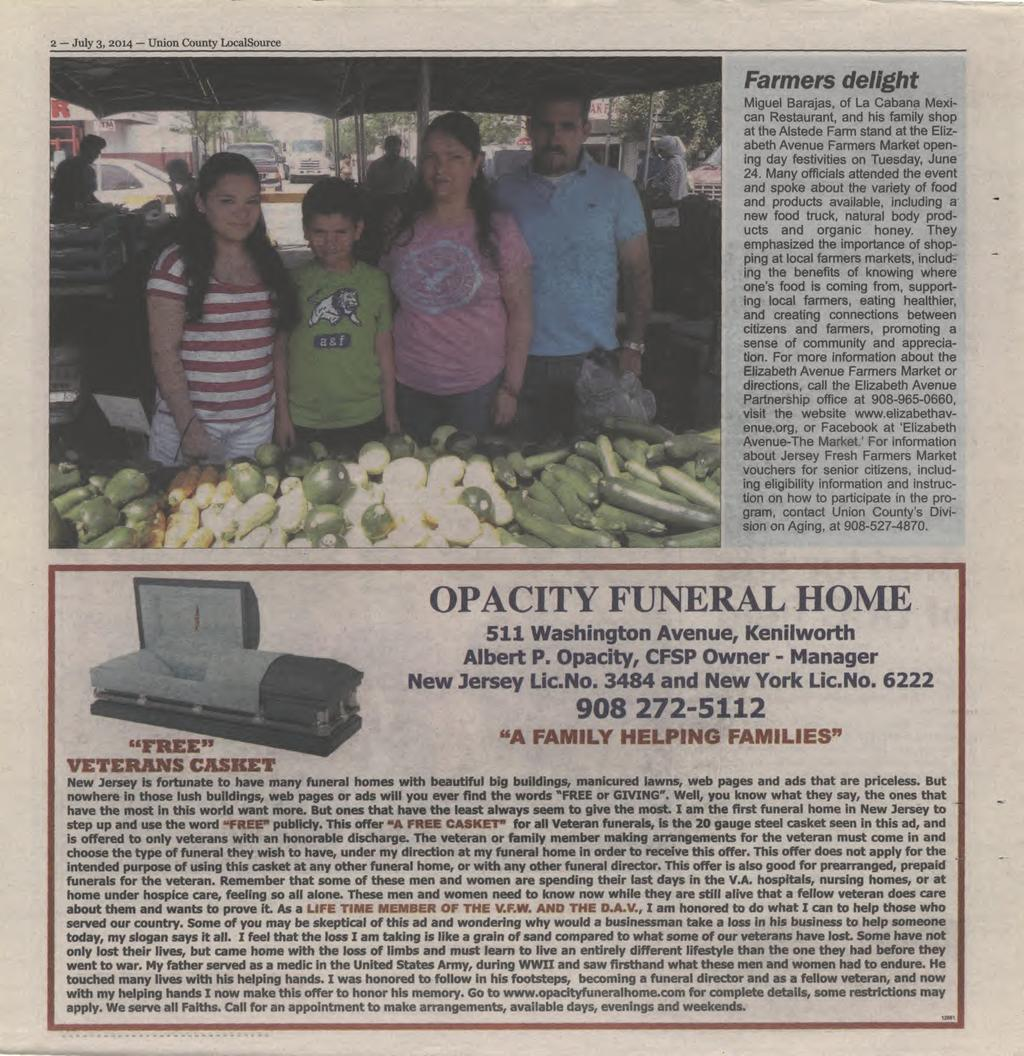 Kean And Union In Aii Out War Pdf Name Card Holder Binder 6222 2 July 3 2014 County Localsource Farm Ers Delight Miguel Barajas Of La