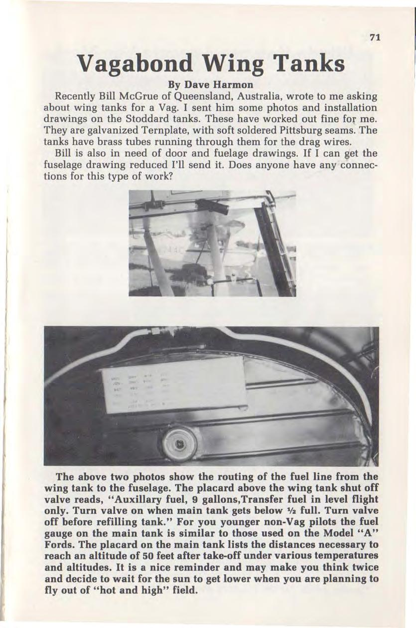 February March Total Pages 76 Pdf 19901993 Ford Mustang Gauge Instrument Cluster Circuit Board 85 Mph Vagabond Wing Tanks By Dave Harmon Recently Bill Mcgrue Of Queensland Australia Wrote To