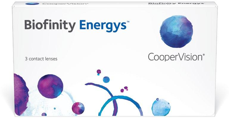49bb8c933a6d96 Biof inity Energys comfilcon A Water content 48% 8.6mm 14.0mm plano to +