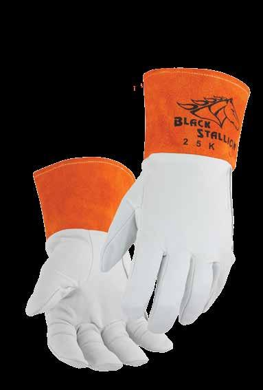 BLACK STALLION A60 ARCSTER KIDSKIN FR ARC RATED WELDING GLOVE sz XL
