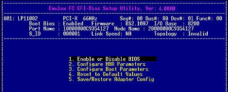 Boot for the Fibre Channel Protocol User Manual for Emulex