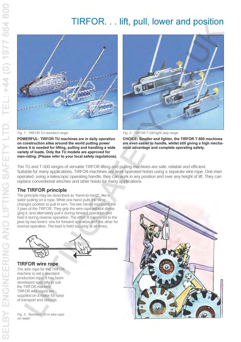 tirfor lifting and pulling machines with unlimited wire rope cle~ - PDF