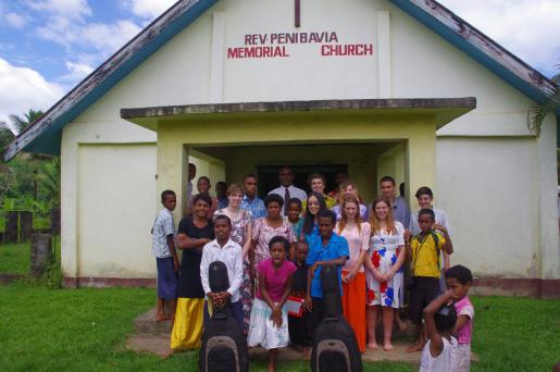 After meeting in Nadi and spending some time finishing off activity planning and getting to know each other, the group travelled to their first destination the village of Namuamua which is an