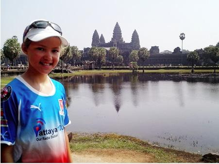 Temple to Temple Twelve-year-old schoolgirl Poppy Mulford has risen to a challenge which would have been well beyond the reach of most people twice her age, by cycling the 459 km between the temples