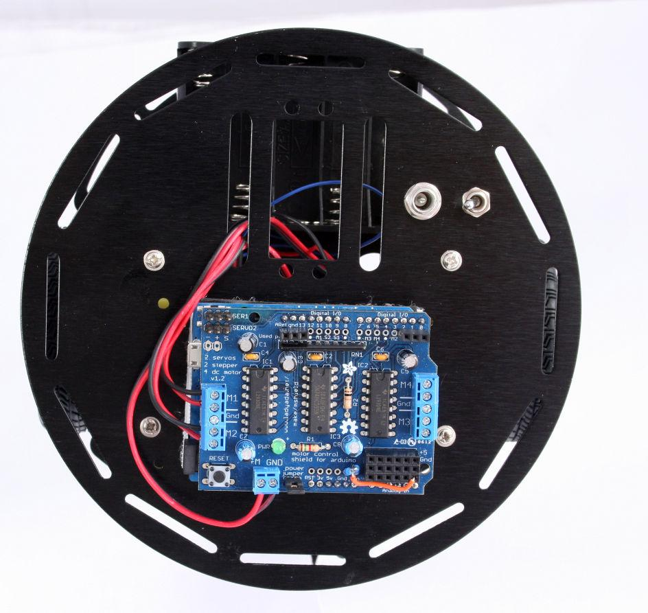 Make An Arduino Controlled Robot Pdf Control Circuit Additionally Motor Shield Diagram On Tv Mechanical Assembly Figure 3 21