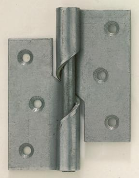 Steel Fixed Pin Hinges Self Colour 40 x 33mm 20 Pack