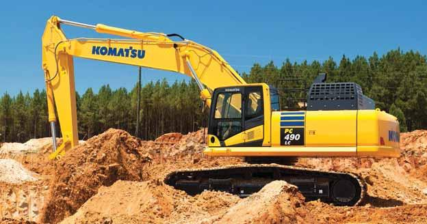 Feature stories a publication for and about linder industrial strong and efficient product improvement new pc490lc 11 excavator provides powerful lift capacity while reducing fandeluxe Gallery
