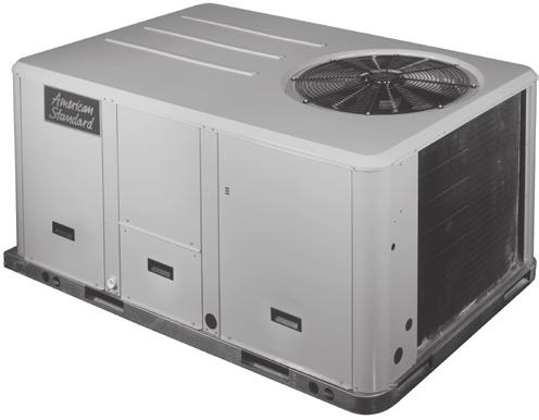 Packaged Heat Pump Convertible 3-10 Tons Beveled Top Smoother Design Small compact cabinet Recessed access handles Standard Features: American Standard Heating & Air Conditioning scroll compressors