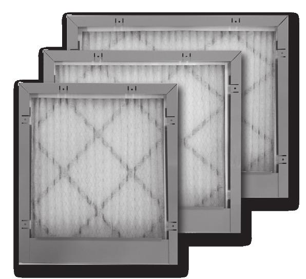 "Perfect Fit Media Filters Indoor Air Quality Four sizes to flush fit bottom of American Standard furnaces TFM175 (17½"") bottom return model can be used for a Perfect Fit side return on all furnace"