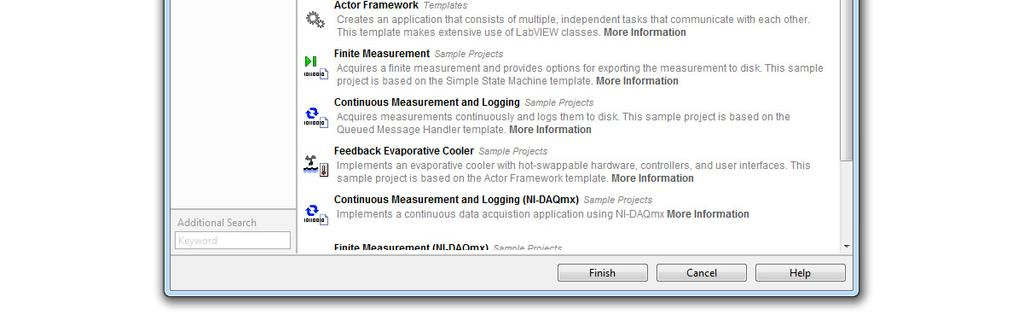 ni com Using LabVIEW Templates and Sample Projects for Desktop