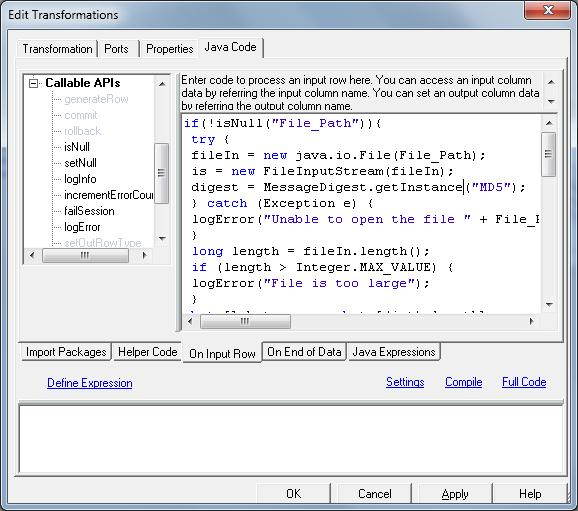 PowerCenter mapping example that demonstrates how to migrate