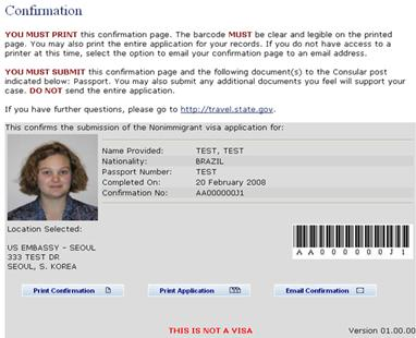 DS-160  THE NEW U S  VISA APPLICATION FORM Consular Electronic