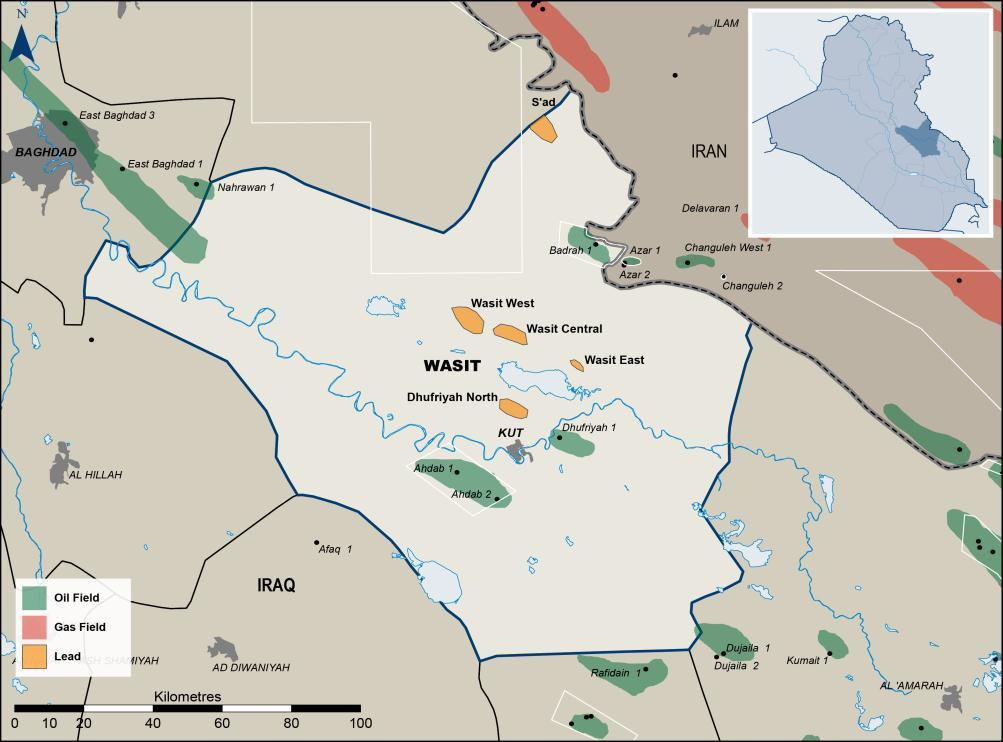 Unrisked Gross (100%) Prospective Resources WASIT (IRAQ) Unique early stage oil opportunity in large underexplored and underdeveloped Shia province Gazprom Proven active petroleum system: 3 fields