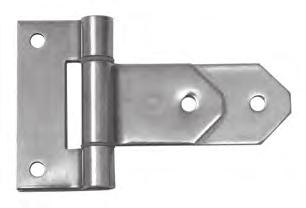 EBERHARD EBERHARD hinges To customize the hinge butt or strap with your company logo, consult factory. No. 6511-SSP No.
