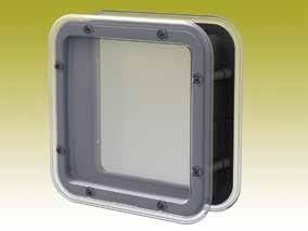 MISCELLANEOUS Certified according to ISO 9001:2008 223 X A 175 VDI 6022 According to VDI 6022 6,5 (x2) R25 (15x45 ) 200 SQUARE INSPECTION WINDOW Square inspection window in transparent,