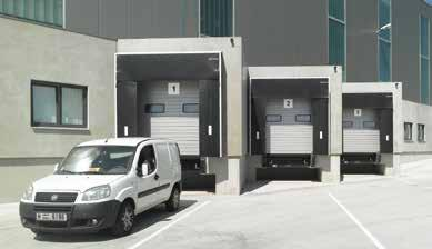 Industrial Sectional Door SPM and SPU F42 Optimum for Loading Technology Color available RAL 9002 Colour The outside and inside of the door is Stucco-textured in Grey white (RAL 9002).
