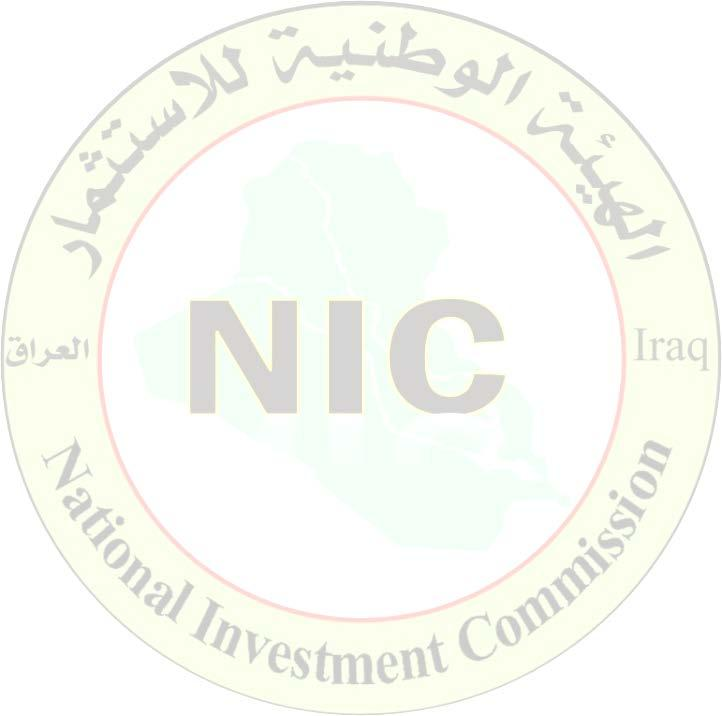 Iraq Investment Map2016 1 Prelude This document was prepared by the National Investment Commission (NIC) in the Republic of Iraq for the purpose of providing a detailed presentation about the