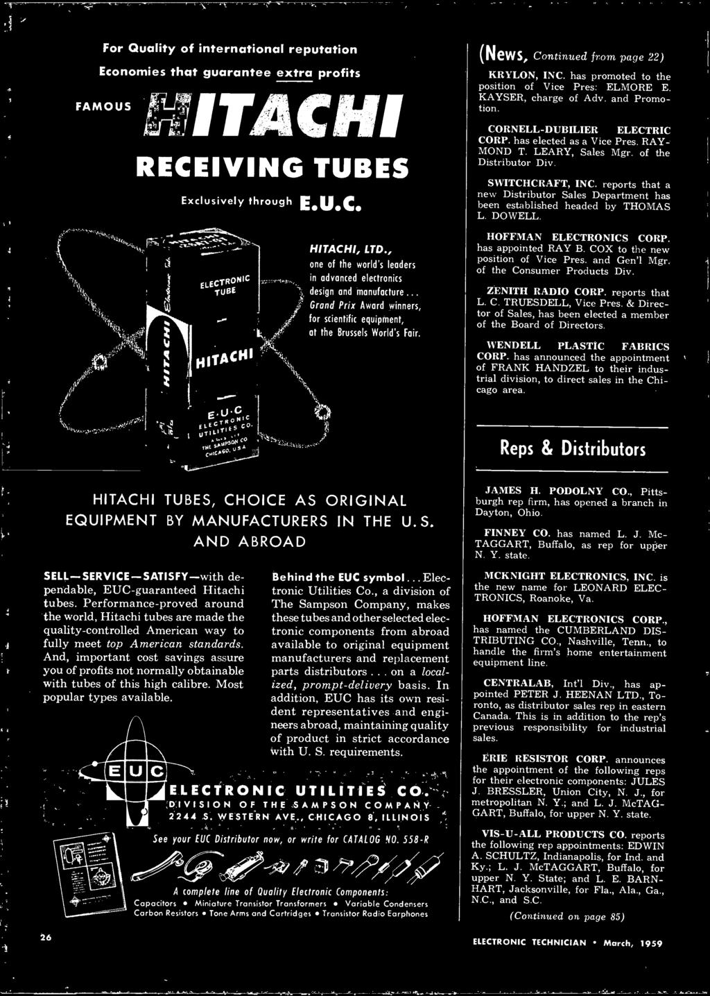 Electronic Technic T U Z M X Radar Speed Control Pdf Led Vu Meter Transistors Schematic In Addition Buzzer Symbol Circuit News Continued From Page 22 Krylon Inc Has Promoted To The
