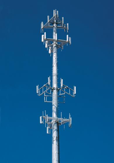 Types of Towers Monopole 100-200 feet Typical use: