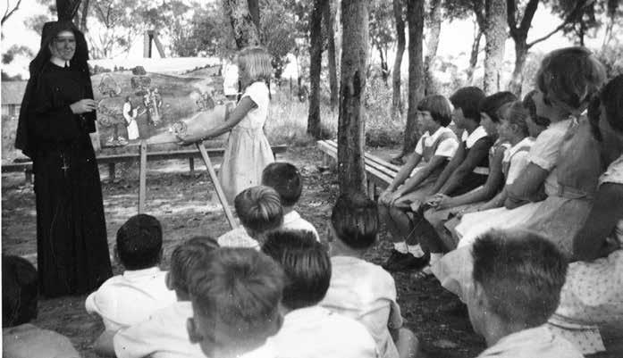 The CCD Movement 1880 2000: Religious education for Catholic children Rural Motor Mission in the 1950s [Archives of the Sisters of St Joseph; printed with permission] children not attending Catholic