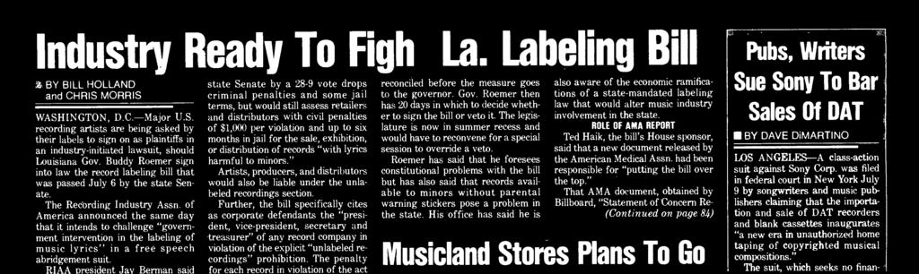 rtists, producers, and distributors would also be liable under the  unlabeled recordings section