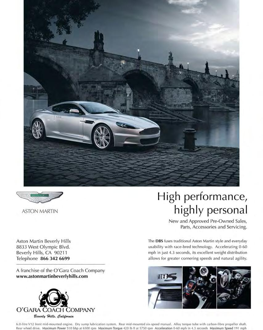 Aston Martin Owners Club Spring 2010 Issue No 26 North America 1987 Mercedesbenz 300d Body Wiring Harness Contact Bridge Genuine And Forward Thinking A Solution For Future Mobility Natural Partner S Line Up Of Acclaimed Luxury Sports Cars