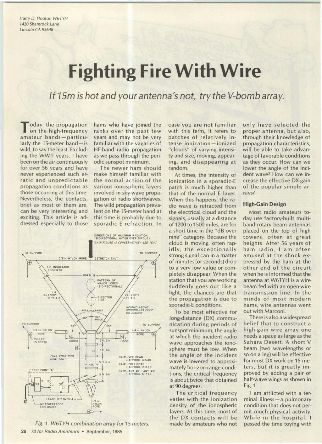 Our 300th Issue I September 1985 250 Usa Pdf Wiring Devices By Kh 50amp Plug And Connector With Flip Seal Harry D Hooton W6tyh 1420 Shamrock Lane Lincoln C 95648 Fighting Fire Wire