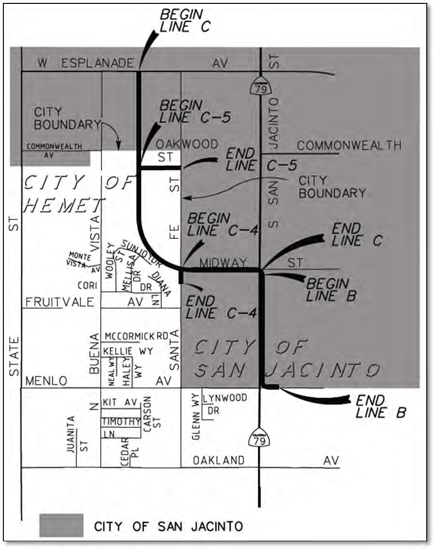 Riverside County Flood Control And Water Conservation District Jacinto 5 Block Diagram San Mdp Lines C 4 B