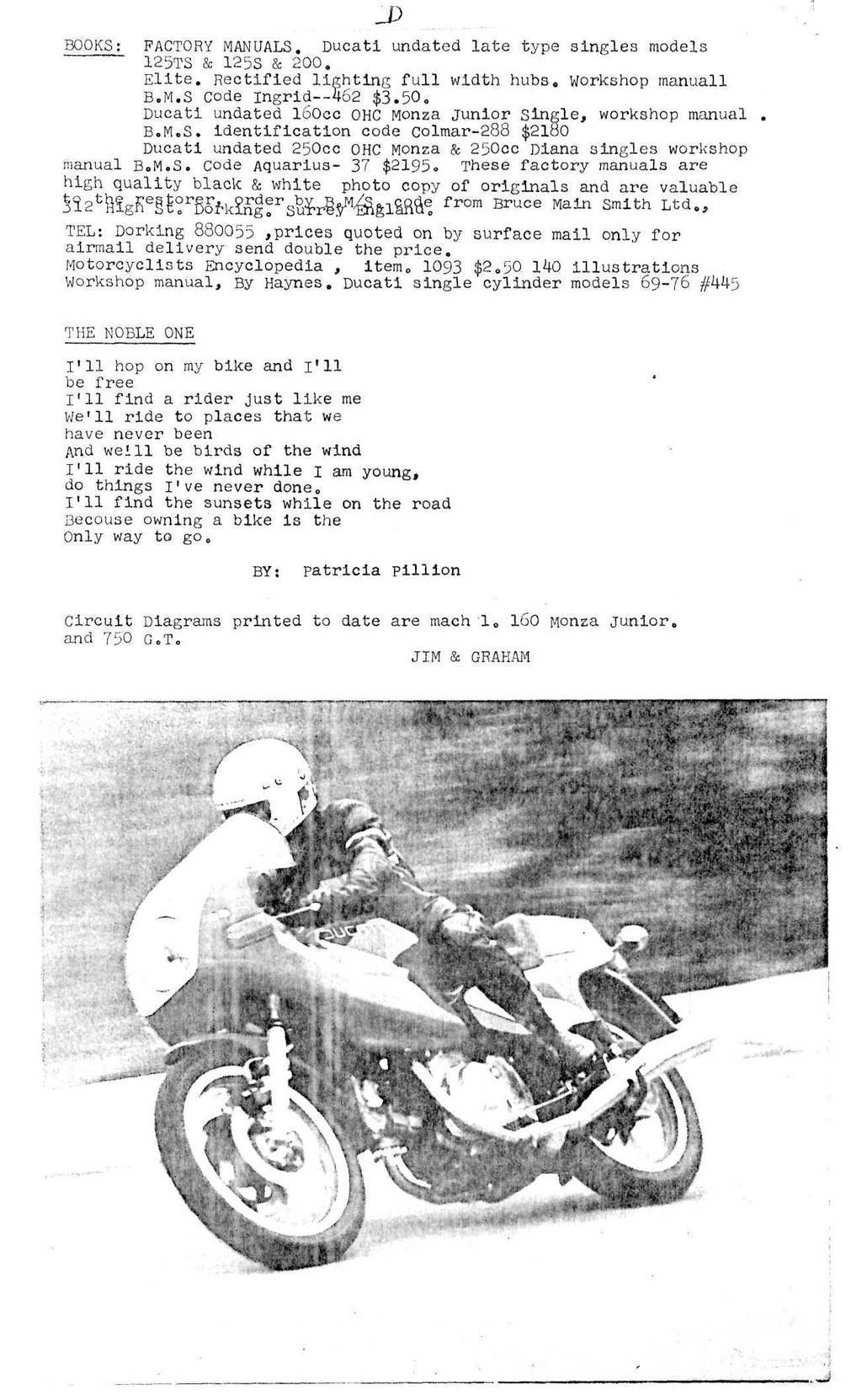 Ducati Owners Club Of Canada Moto Desmo Pdf 888 Wiring Diagram J Books Factory Manuals Ducatl Undated Late Type Singles Models 125ts 125s