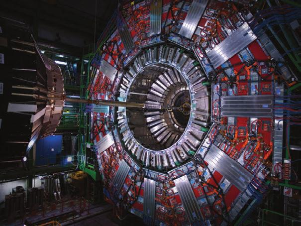 Modern Physics p a r t 6 The Compact Muon Solenoid (CMS) Detector is part of the Large Hadron Collider at the European Laboratory for Particle Physics operated by CERN.