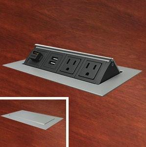 Technology Table Specifications PDF - Conference table power module with hdmi