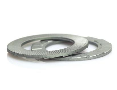 Nord-Lock 1244 Wedge Locking Washer 1244 M10 Pkg of 200 Zinc Flake Coated Carbon Steel