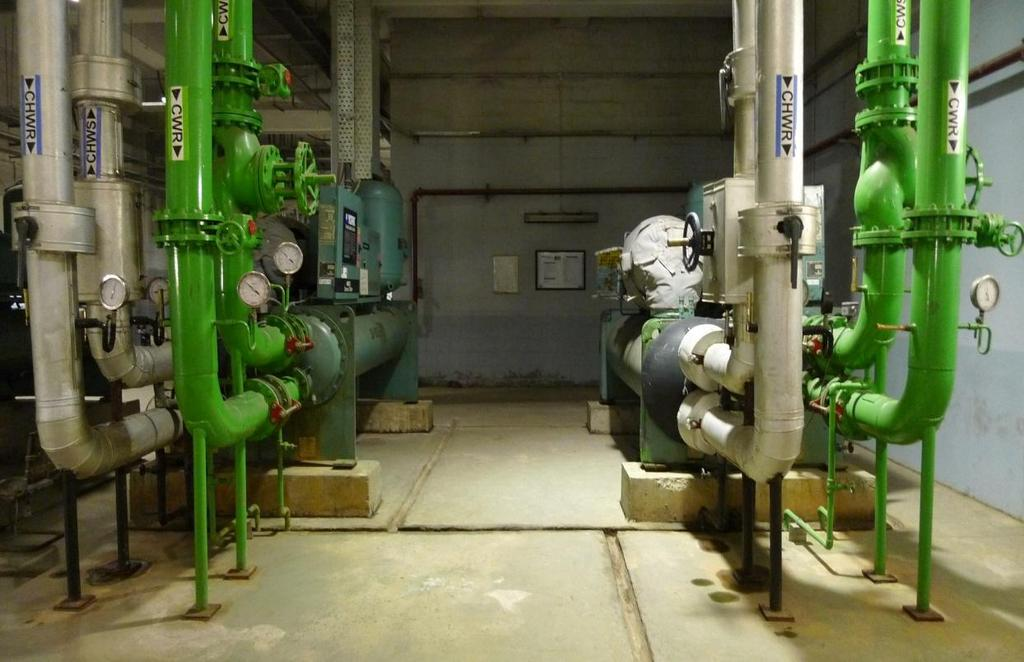 Figure 9-5: Chiller Plant Room In view of the temperate outdoor conditions, alternatively it is possible to utilize aircooled chiller units, which can save large amount of water requirement.